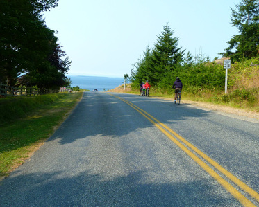Biking on San Juan Island
