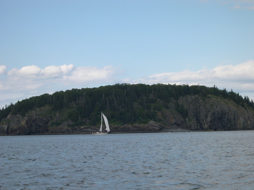 View from the lobster boat tour, Bar Harbor, Maine.