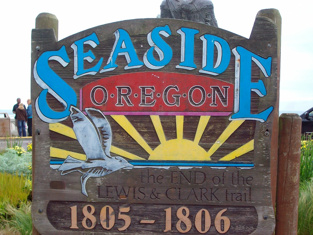 Quaint town of Seaside, Oregon is a fun place to stop.