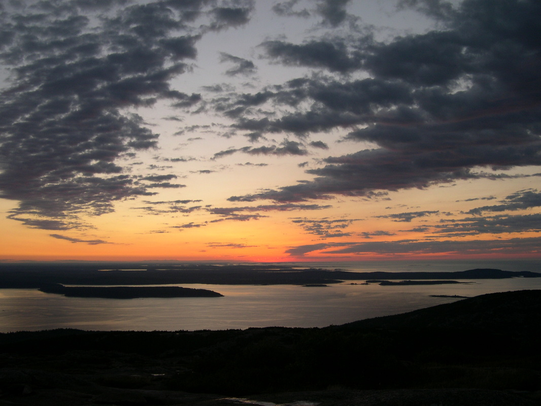 You have to get up early to see the first rays of the sun at Cadillac Mountain in Acadia National Park.