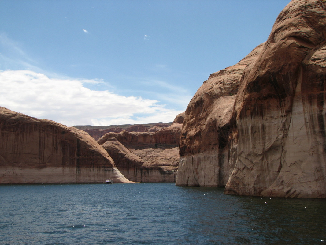 This was our view on a boat tour in Lake Powell on the way to Rainbow Bridge.