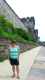 Outside of Eastern State Penitentiary