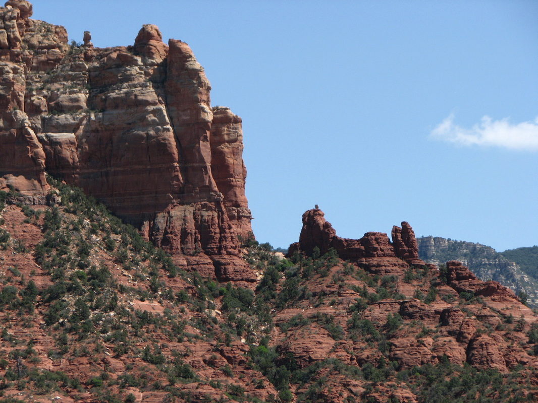 Look closely for the famous Snoopy Rock in Sedona, AZ.