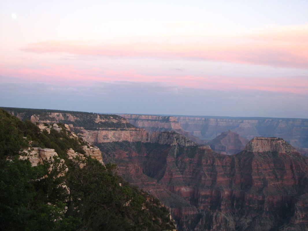 Sunset at the North Rim of the Grand Canyon.
