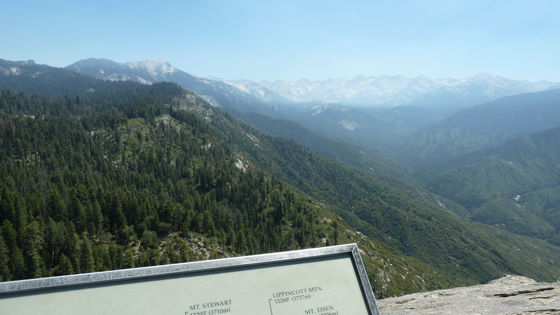 View from Moro Rock, Sequoia National Park.