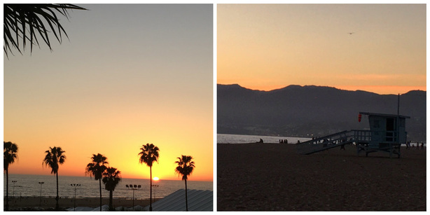Santa Monica Sunset - 6 Free or Cheap Things to do in Southern California