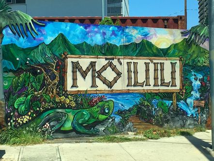Colorful street art in Waikiki. #streetart