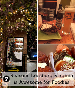 Check out these 7 places to eat in small town Leesburg, Virginia that foodies will love.  #VisitLoudoun