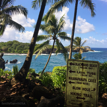 The views at Waianapanapa State Wayside Park are not to be missed on the Road to Hana!