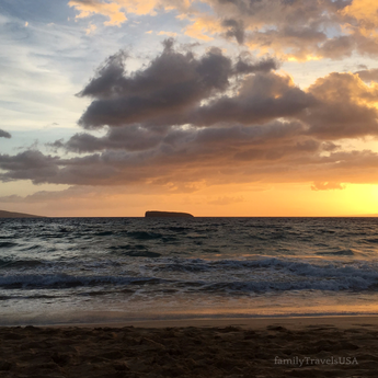 A beautiful Hawaiian sunset at Makena State Beach on Maui. A must see when you visit the island.