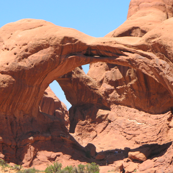 Just one of the amazing views at Arches National Park. Read more about visiting Arches, Bryce & Zion on the blog.