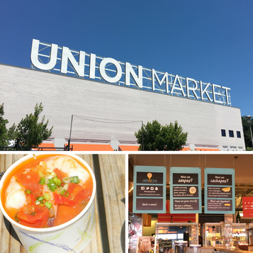 So much fun exploring DC's Union Market. Over 30 food vendors to choose from.