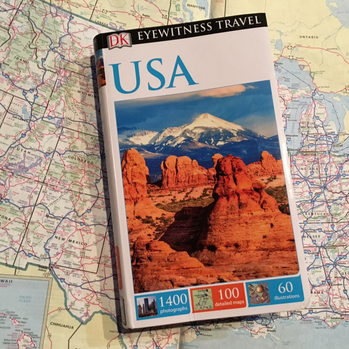 Travel books are a great place to start when planning a road trip. More on the blog - 7 Helpful Tips for Your Next Road Trip
