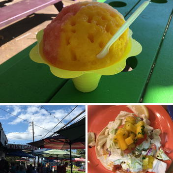 So many casual dining options in Kihei on Maui, including Ululani's, Kihei Caffe for breakfast, and Coconuts Fish Cafe for fish tacos.