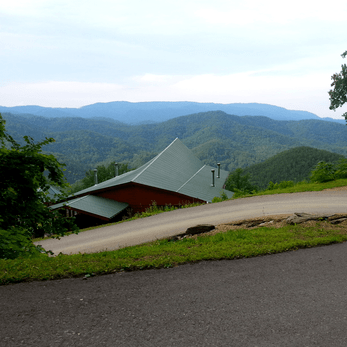 Driving the winding roads to our cabin outside of Pigeon Forge, TN.