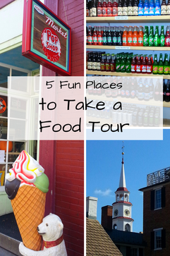 5 Fun Places to take a Food Tour, including historic Frederick, MD and Chicago, IL.