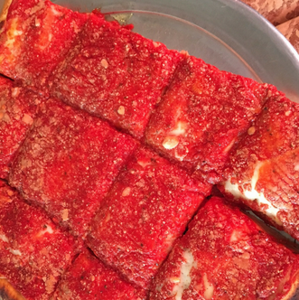 Take A Slice of Brooklyn Pizza Tour and enjoy square pizza from L&B Spumoni Gardens Pizza.