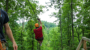 Everyone should go zip lining at least once in their life.  We had great fun at Wears Valley Zip Line Adventures in TN.