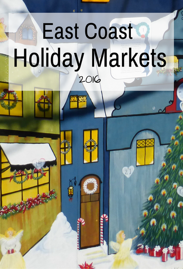 So much fun to visit festive holiday markets in December. Here are a few popular markets on the east coast.
