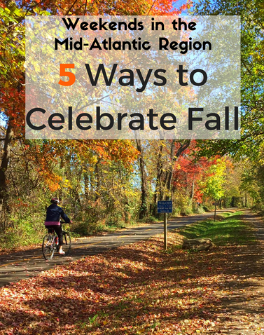 From a Renaissance Festival to leaf viewing by bike, check out these 5 ways to celebrate fall in the Mid-Atlantic Region.