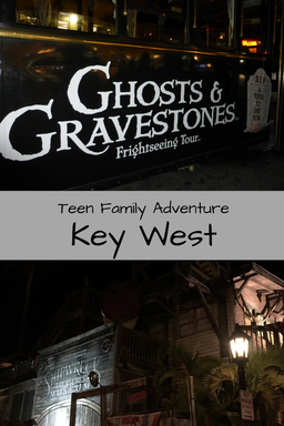 Hop aboard the Trolley of the Doomed for a nighttime Ghosts & Gravestones Tour of Key West. Perfect family night with adventurous teens.
