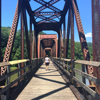 Hiking, biking and paddling are available at New River Trail State Park. Love the trestle bridges!
