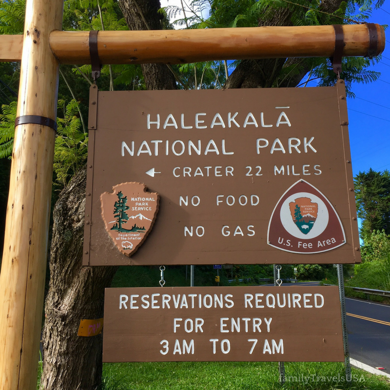 The Haleakala NP sign looks much better during the daylight than it did at 4:00 a.m. when we went up to see the sunrise!