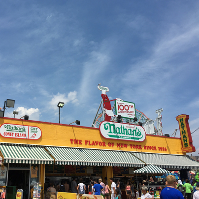 Visiting Coney Island during A Slice of Brooklyn Pizza Tour. Add this fun tour to your NYC bucket list.