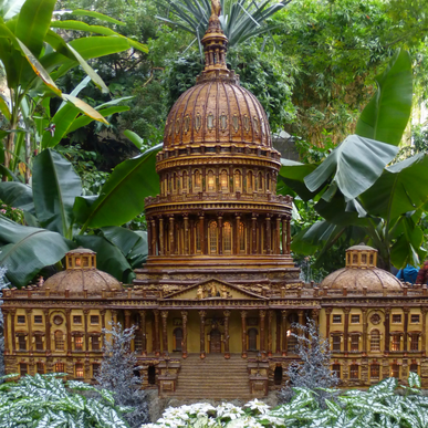 December is the perfect time to visit the United States Botanic Garden in DC to enjoy the holiday exhibit.